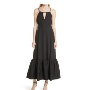 Tracy Reese Tiered Halter Keyhole Black Dress Nwt